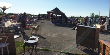 A view of the any people attending the 2016 FTH garage sale