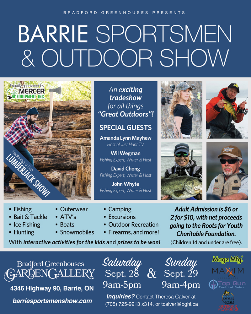 Bradford Greenhouse Barrie Sportsmen and Outdoor Show 2019